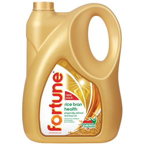 Buy Fortune Refined Oil Rice Bran 5 Ltr Can Online at the Best Price