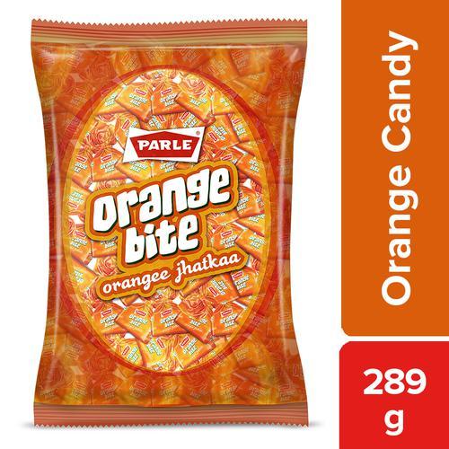 Parle Orange Bite Jhatkaa Candy, 289 g Pouch