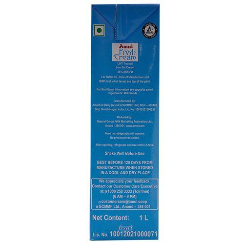 Amul Cream -Fresh, 1 L Carton
