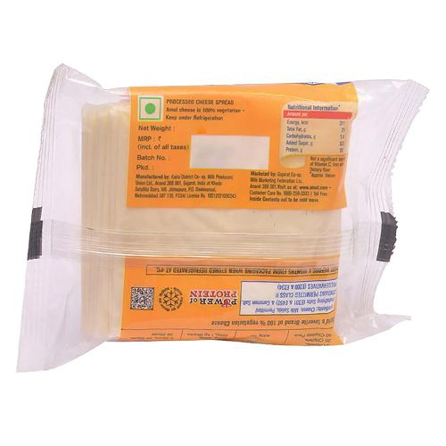 Amul Cheese - Slices, 200 g Pouch