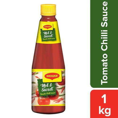 MAGGI  Tomato Chilli Sauce - Hot & Sweet, 1 kg Bottle