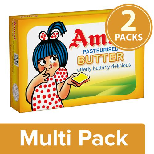 Amul Butter - Pasteurized, 2x100 g Multi Pack