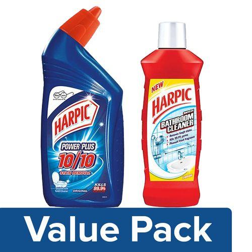 Buy Harpic Original 1 Ltr Bathroom Cleaner Lemon 500 Ml