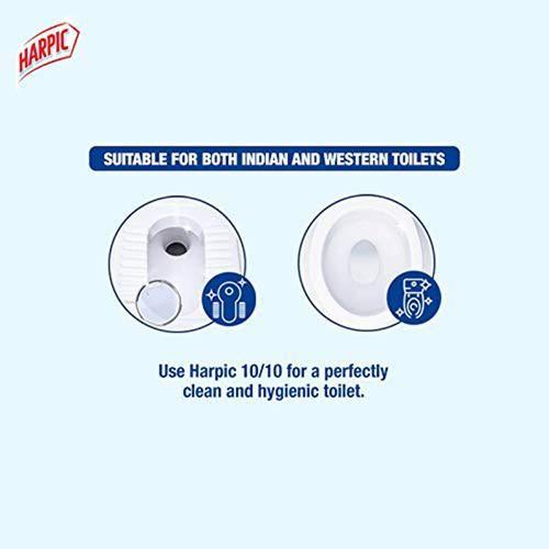 Harpic Disinfectant Toilet Cleaner Liquid, Original - Kills 99.9% Germs, 2x1 L Multipack