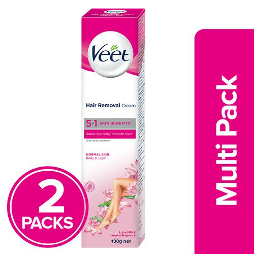 Buy Veet Hair Removal Cream Sensitive Skin 2x100 Gm Multi Pack