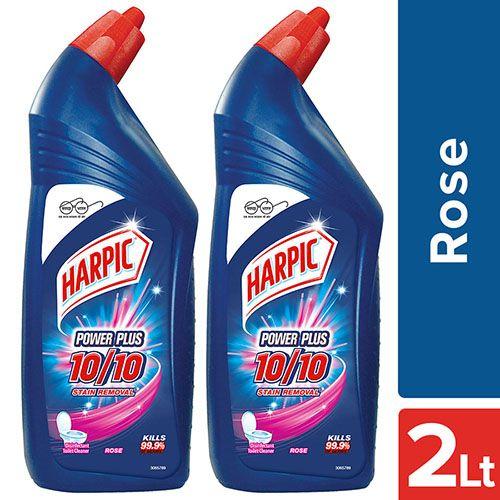 Buy Harpic Toilet Cleaner Power Plus Rose 2x1 Ltr Multi