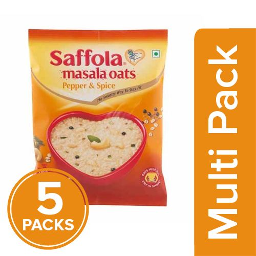 Saffola Oats - Pepper & Spice, 5x39 g Multipack