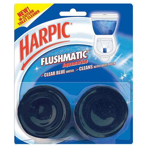 Buy Harpic Toilet Cleaner Flushmatic Aquamarine 2x100