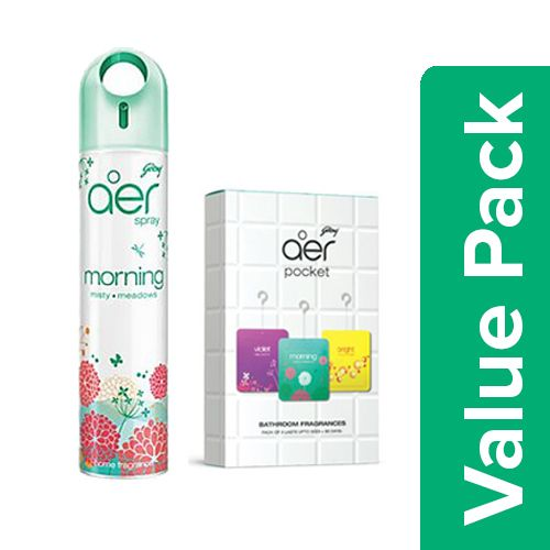 Aer Pocket Bathroom Freshener Assorted 30G Pack Of 3 + Air Freshener Spray 300Ml
