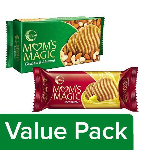 bb Combo Moms Magic - Rich Butter 75 gm + Moms Magic - Cashew & Almond 200 gm, Combo 2 Items