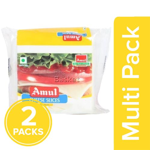 Amul Cheese - Slices, 2x200 g Multipack