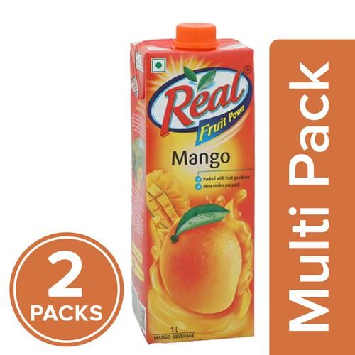 Real Fruit Power - Mango (Aam), 2x1 L Multipack