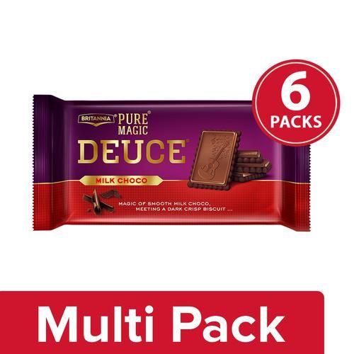 Buy Britannia Pure Magic Biscuit - Milk Chocolate, Deuce 6x60 gm (Multipack) Online at Best Price.