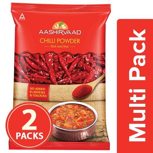 Aashirvaad Powder - Chilli, 2x100 gm Multipack