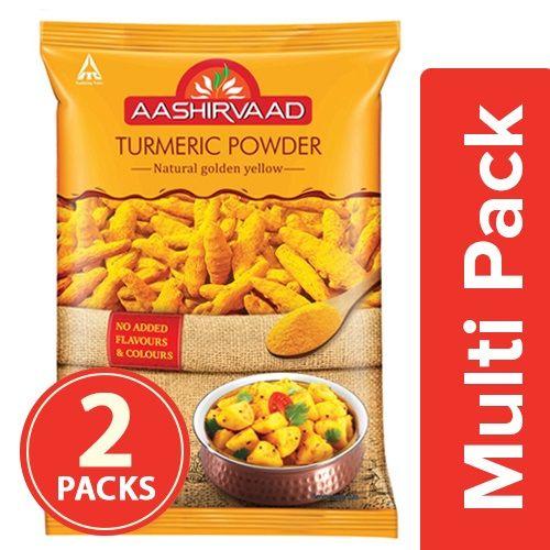 Aashirvaad Powder - Turmeric, 2x200 gm Multipack