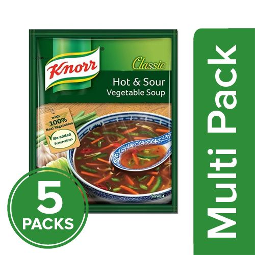 Knorr Chinese Hot & Sour Veg Soup, 5x43 gm Multipack