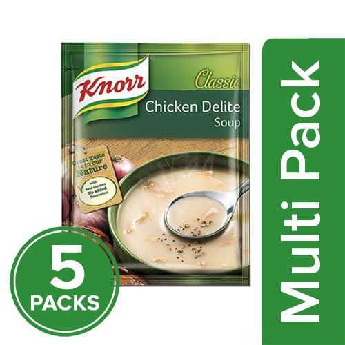 Knorr Classic Chicken Delite Soup, 5x44 gm Multipack
