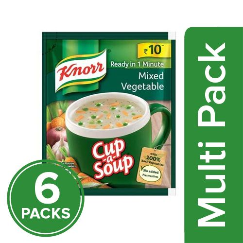 Knorr Instant Mixed Vegetable Cup-A-Soup, 6x11 ml Multipack