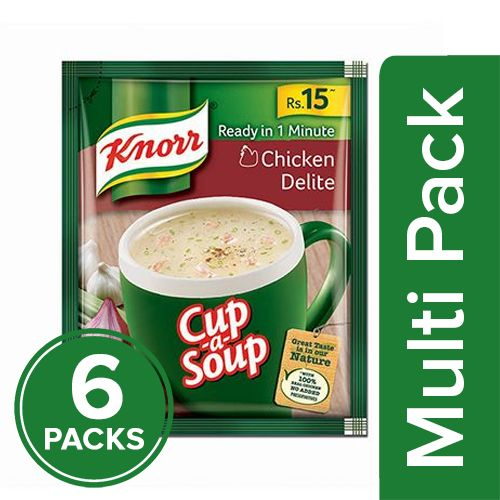 Knorr Cup-A-Soup - Chicken Delite, 6x11 gm Multipack