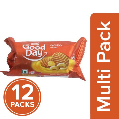 Britannia Good Day Cookies - Rich Cashew, 12x58 gm Multipack