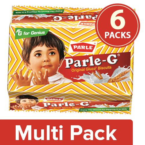 Parle Gluco Biscuits - Parle-G, 6x130 g Multipack