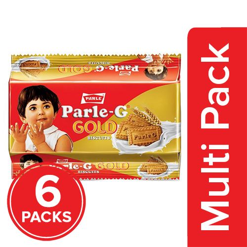 Parle Biscuits - Gluco Gold, 6x112.5 g Multipack