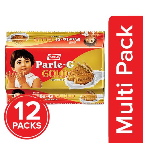 Parle Biscuits - Gluco Gold, 12x112.5 gm Multipack