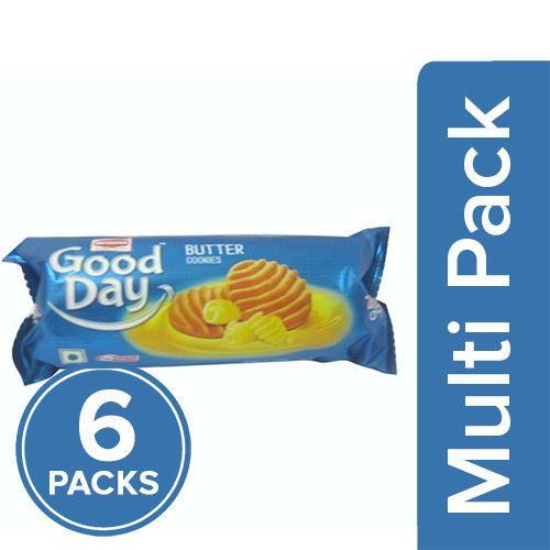 Britannia Good Day Cookies - Rich Butter, 6x66 gm Multipack