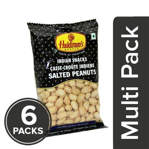 Haldirams  Namkeen - Salted Peanut, 6x50 gm Multipack