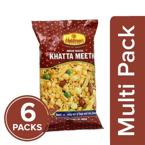 Haldirams  Namkeen - Khatta Meetha, 6x60 gm Multipack