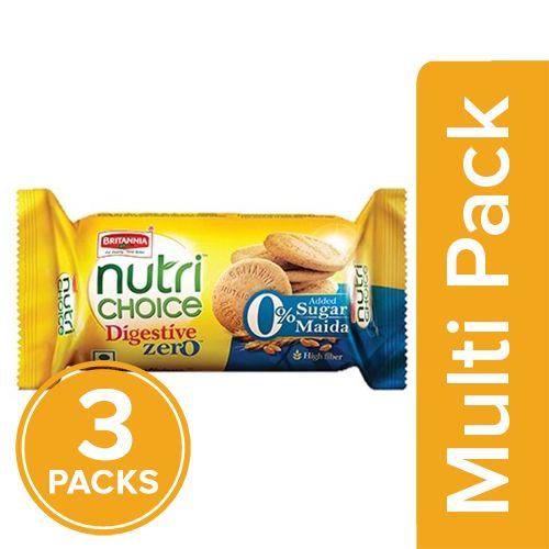 Britannia Nutri Choice - Digestive Zero Biscuits, 3x100 gm Multipack