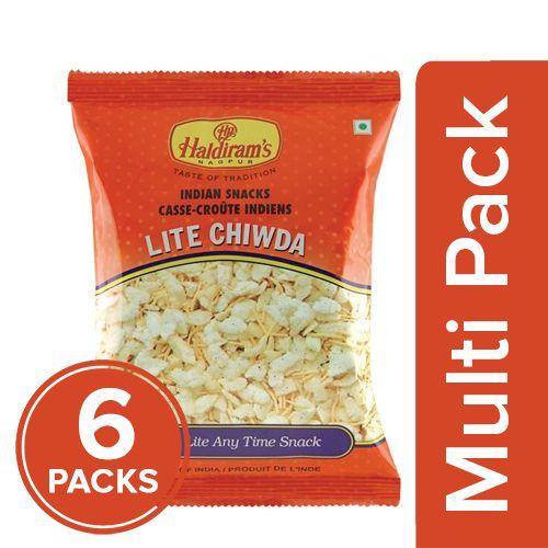 Haldirams  Namkeen - Lite Chiwda, 6x57 gm Multipack