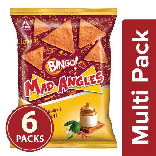 Bingo Mad Angles - Achaari Masti, 6x90 gm Multipack