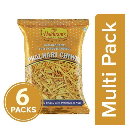 Haldirams  Namkeen - Phalhari Chiwda, 6x50 gm Multipack