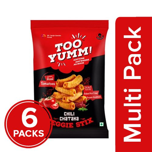 Too Yumm! Veggie Stix - Chilly Chataka, 6x30 gm Multipack