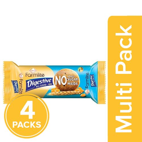 Sunfeast Farmlite Digestive - All Good, 4x100 gm Multipack