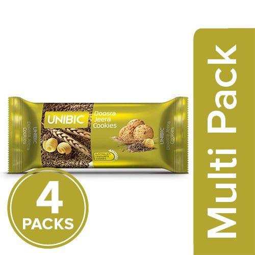 Unibic Cookies - Doosra Jeera Butter, 4x75 gm Multipack