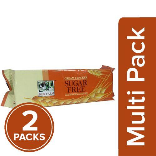 Bisk Farm Sugar Free Cream Cracker, 2x200 gm Multipack