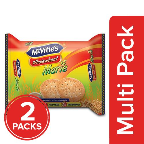 Mcvities Marie Bisucits - Whole Wheat, 2x200 gm Multipack
