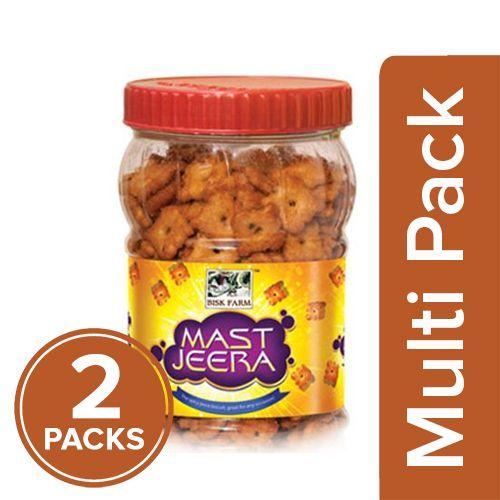Bisk Farm Mast Jeera - The Spicy Jeera Biscuits, 2x200 gm Multipack