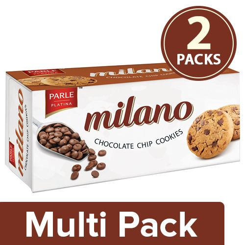 Milano Chocolate Chip Cookies, 2x120 g Multipack