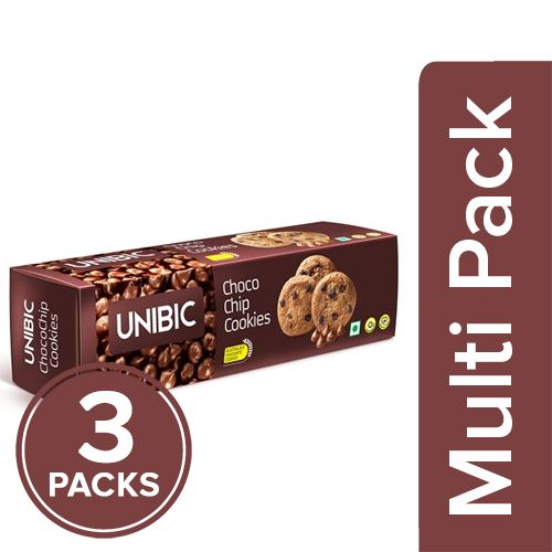 Unibic Cookies - Chocolate Chip, 3x150 gm Multipack