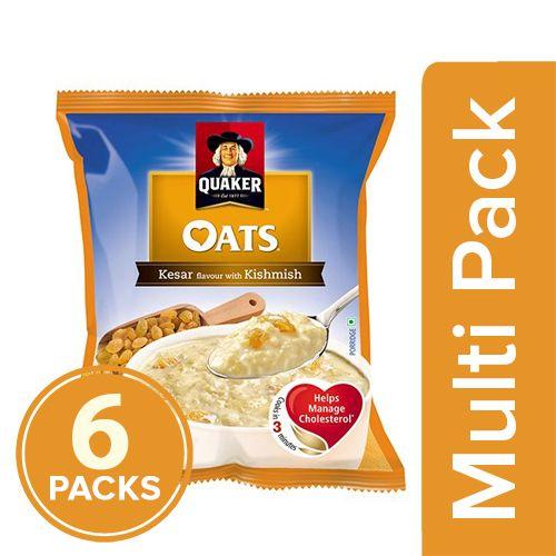 Quaker Oats - Kesar Flavour With Kishmish, 6x40 gm Multipack