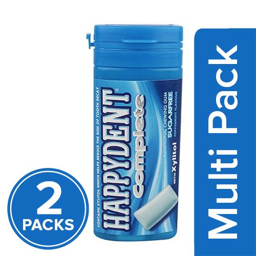 Happydent  Chewing Gum - Complete, Peppermint, 2x27.5 gm Multipack