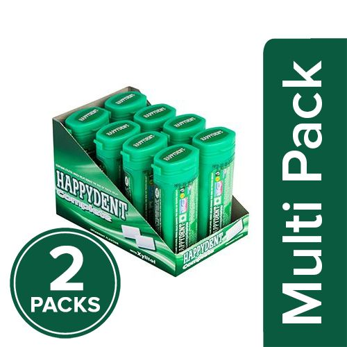 Happydent  Chewing Gum - Complete, Spearmint, Xylitol, 2x27.5 gm Multipack