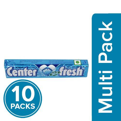 Center Fresh Chewing Gum - Spearmint, Stick, 10x17 gm Multipack