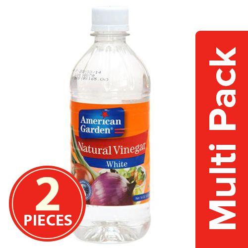 American Garden  Natural Vinegar - White, 2x473 ml Multipack