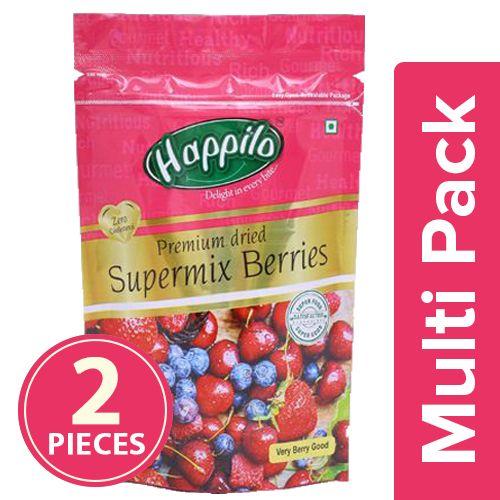 Happilo Supermix Berries - Premium Dried, 2x200 gm Multipack