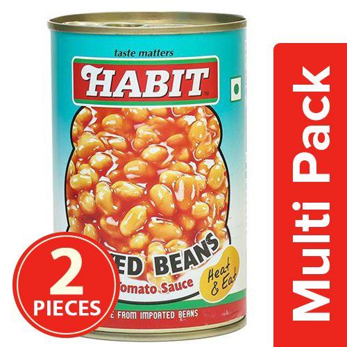 Habit Baked Beans in Tomato Sauce, 2x450 g Multipack