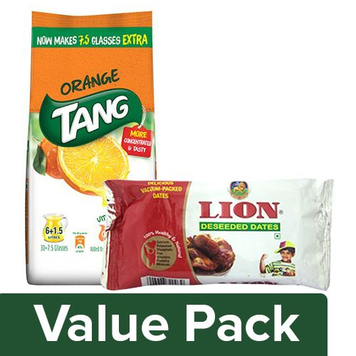 bb Combo Tang Orange Instant Drink Mix 750G + Lion Dates - Deseeded 200G, Combo 2 Items